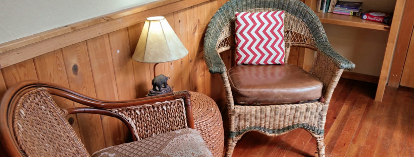 Chairs at Suttle Tea in Sisters, Oregon